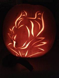My new design as my pumpkin carving this year :). Gotta love Maleficent