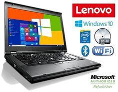 "Lenovo Thinkpad T430 Laptop w/ 14"" Display Intel Core I5 2.6GHz 4GB RAM 320GB Hard Drive DVDRW & Windows 10"