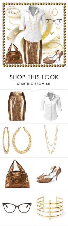 """""""Gold at work!"""" by rima1205 on Polyvore featuring moda, Raoul, LE3NO, Fragments, Gorjana, Marc Jacobs, Tom Ford y BauXo"""