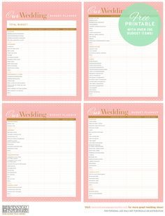 photograph about Free Printable Wedding Planner Pdf referred to as absolutely free printable Wedding day Funds Planner rachels wedding day