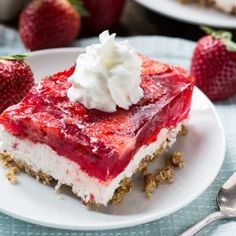 Old-fashioned Strawberry Pretzel Salad makes a great addition to summer potlucks and picnics. A crunchy pretzel crust gives it a delicious salty-sweet quality.