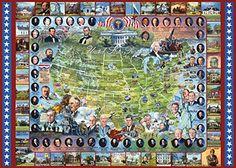 White Mountain Puzzles US Presidents - 1000 Piece Jigsaw ...