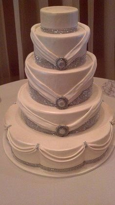 Wedding Cake with Sparkling Bling