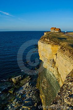 houses on cliffs | House On Cliff Edge Royalty Free Stock Photo - Image: 4908495