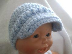 Baby boy crochet news boy hat 3/6 months by littletotstoes2 on Etsy, $15.00