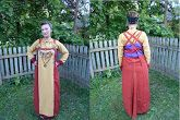 From a fascinating article about the author's attempts to recreate an apron dress from the find in Pskov grave number three.