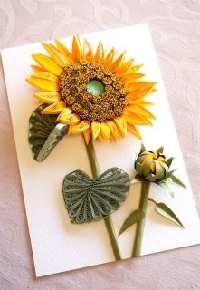 Paper Sunflower idea ( site in another language )