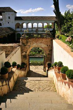 قصر الحمراء في غرناطة Generalife, Alhambra, Granada, Andalucía - Spain