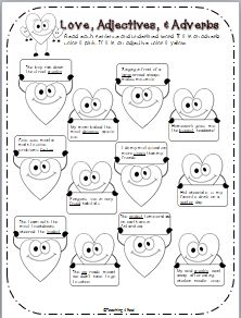 FREE! Gr. 1-3 Set of 36 task cards to review adjectives