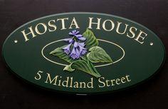 Hosta House Name Sign   Danthonia Designs