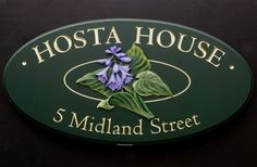 Hosta House Name Sign | Danthonia Designs