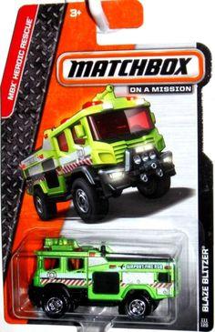 Matchbox 2014 Blaze Blitzer Fire Truck #111/120 MBX Heroic Rescue Series GREEN #Matchbox #Matchbox