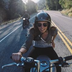 I hope this is how I look when I ride! It is certainly how I feel. RoadDivaDiairies.com - http://www.youmotorcycle.com