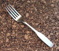"""Community Paul Revere Fork 1 Dinner Fiddle Stainless Oneida Wing Flatware 7 1/4""""…"""