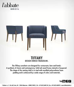 Tiffany | Design Enrico Franzolini. www.labbateitalia.it Dining Bench, Dining Chairs, Polyurethane Foam, Tiffany, Armchair, Contemporary, News, Wood, Furniture