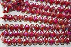Ronddell Crystal Beads AB color plated 12x8mm 7 by sedonastonesllc