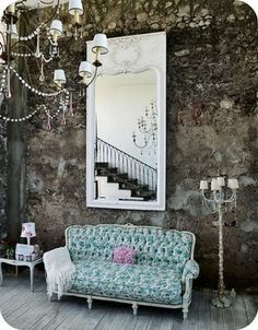 rustic, glamourous