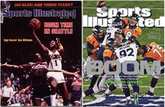 "Seattle = Boom. Both times a Seattle sports team won a title (35 years a part, granted), the word ""Boom"" graces the cover of Sports Illustrated. Sonics, Seahawks, all boom:)"