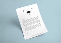How minimalistic can a bear be? Pretty much, especially when it's a white bear. Have a look at my self initiated work for White Bear Studios.
