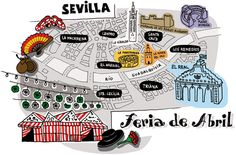Client: Vanity Fair Description: Ilustración artículo Feria de Abril (Blog Santisallés)