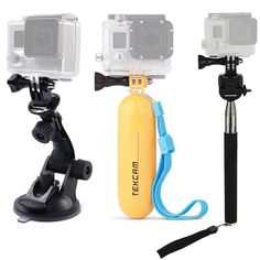TEKCAM Action Camera Accessories Kits Bundle for Gopro/ Lightdow LD4000 LD6000/DBPOWER/APEMAN/AKASO EK7000 4K 1080P Waterproof Sports Action Camera Included Car Suction Cup Floating Mount and Tripod * Click image for more details. (This is an Amazon Affiliate link and I receive a commission for the sales)