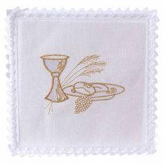 Altar Cloth, Napkins, Iglesias, Decorations, Hearts, Needlepoint, Manualidades, Drawings, Altar