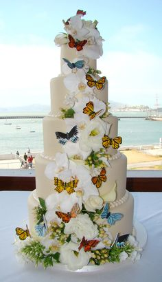 Indian Weddings Inspirations. Butterfly wedding cake. Repinned by #indianweddingsmag indianweddingsmag.com