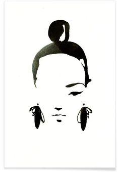 Face Nr. 1 als Premium Poster von Ekaterina Koroleva | JUNIQE