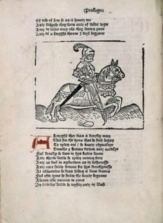 Chaucer, Canterbury Tales, William Caxton, 1483