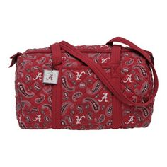 Alabama Crimson Tide Paisley Quilted Duffle Bag - Roll Tide District
