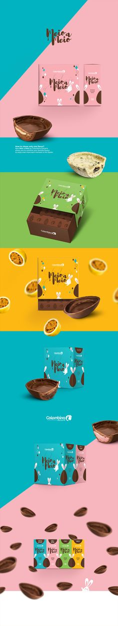 Meio a Meio Chocolate Branding and Packaging by Crislaine Art