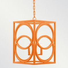 This Oslo Powder Coated Chandelier from Shine by S. would be perfect dangling above a tall bar table. Orange Chandeliers, Orange Lamps, Elegant Chandeliers, Orange Orange, Orange Crush, Light Orange, Exterior Lighting, Home Lighting, Lighting Ideas