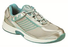 Verve - Turquoise WOMEN'S ATHLETIC - TIE-LESS LACE & HEEL STRAP ORTHOTIC FOOTWEAR. Orthofeet comfort system offers a non-binding fit, extra room for toe movement, and maximum protection against pressure points. The anatomical orthotic insole and ergonomic sole offer precise support and excellent cushioning, making every step you take soothing with comfort.