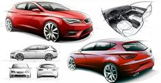 Seat Leon 5D official sketches by Sketch Storm