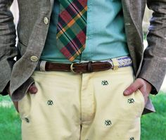 Embroidered chinos