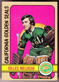CALIFORNIA GOLDEN SEALS 1972-73 TOPPS GILLES MELOCHE VG+EX COND FREE SHIPPING #CALIFORNIAGOLDENSEALS