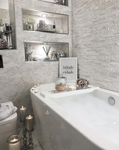 Grey and white bathroom. Inspo from Instagram.
