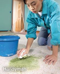 Speed and lots of water are the keys to removing spilled paint from carpet.