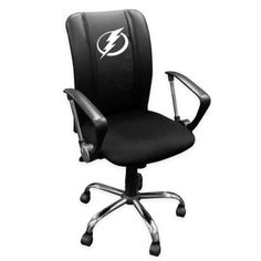 NHL Tampa Bay Lightning Curved Office Chair Multi