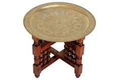 Brass Tray-Top Folding Table - $395.