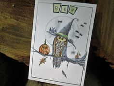 Halloween Owl Art, Witch Owl Print, Halloween Owl Drawing, Owl Wall Hanging Owl Decor Owl Picture Halloween Decor Boo Witch Owl Drawing by…