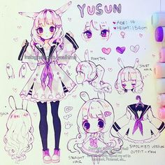 Happy weekend everyone~ I finally finished the ref sheet for my OC Yusun. I was thinking of colouring the little sketches on the side too but I was too busy today T_T one day I'll eventually finish all the refsheets...one day (´Д`) Also since it's been asked before - no one needs to ask me if they want to draw/fanart any of my OCs, but if they do it then I want to see the drawing too~ I am sorry but I did try to film this but I have a bad habit of drawing at some absurd hour when everyone is…