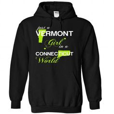 (VTJuxtXanhChuoi001) Just A Vermont Girl In A Connectic - #gift for him #mens shirt. PRICE CUT => https://www.sunfrog.com/Valentines/-28VTJuxtXanhChuoi001-29-Just-A-Vermont-Girl-In-A-Connecticut-World-Black-Hoodie.html?id=60505