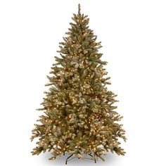 7.5-ft. Pre-Lit Snowy Concolor Fir Artificial Christmas Tree