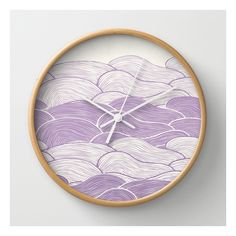 The Lavender Seas Wall Clock (€27) ❤ liked on Polyvore featuring home, home decor, clocks, wall clocks, battery powered wall clock, ocean home decor, battery powered clock, battery wall clocks and battery operated wall clock