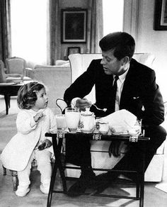 "President Kennedy has a breakfast conference with his daughter Caroline in White House in 1961. Isn't this the cutest photo ever?  Hit ""Share"" to pass on the history from >> The Archive ."