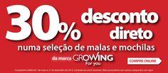 Desconto 30% Growing
