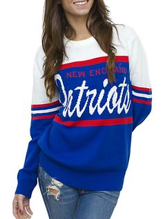 Cute throwback sweater for the upcoming Super Bowl. Show your support for the New England Patriots against the Seattle Seahawks! #PMTSLife #PMTSSpokane