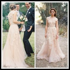 Vintage 2014 Lace Wedding Dresses Champagne Sweetheart Ruffles A-Line Wedding Dresses |