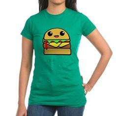 kawaii cheeseburger T-Shirt  #cheeseburger #hamburger #burger #cute #kawaii #drawing #illustration #characters #cartoon #comic #food #foodie #shirts #juniors